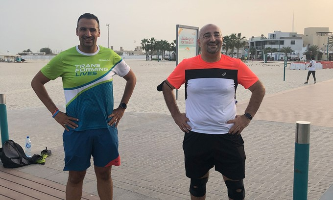 Professor of Mathematics at AUD runs for the medical treatment of underprivileged children in the UAE